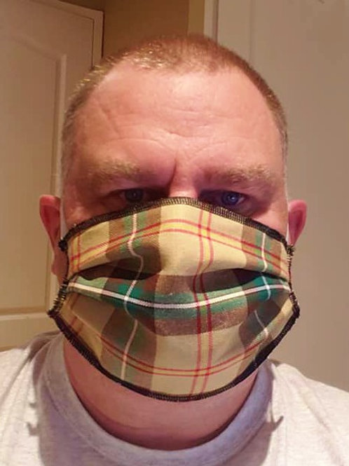 Saskatchewan Tartan Face Mask - PLEASE ALLOW UP TO 10 BUSINESS DAYS FOR SHIPPING