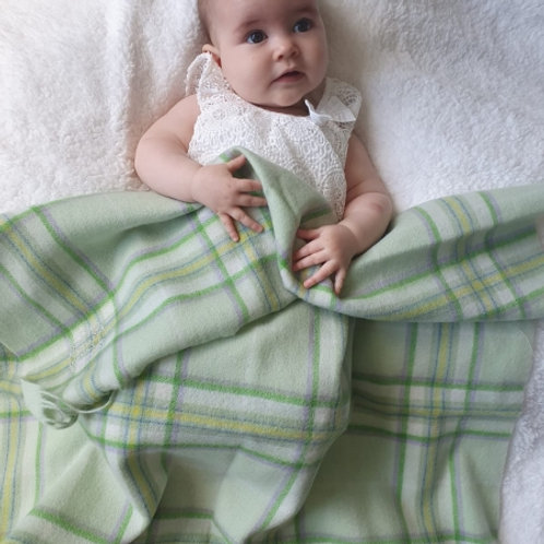 Little Lamb Lambswool Baby Blankets Emerald Green