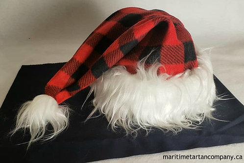 Red / Black Check Christmas Hat