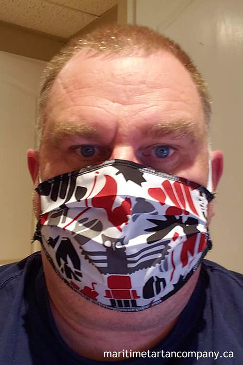 Canadiana Print Face Mask - PLEASE ALLOW UP TO 10 BUSINESS DAYS FOR SHIPPING