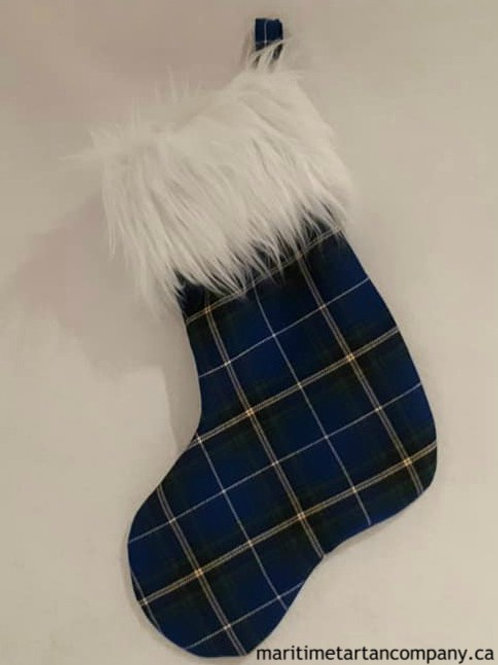 Nova Scotia Tartan Fleece Christmas Sock