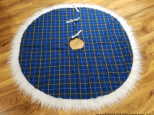 Tree Skirt Trimmed with Faux Fur