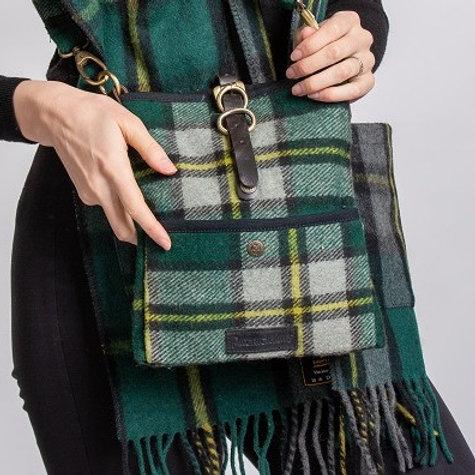 Cape Breton or Nova Scotia Tartan Deluxe Wool Islay Cross Body Bag