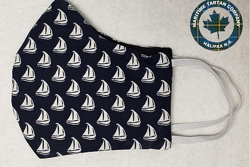 Sail Boat Print Face Mask - ALLOW UP TO 10 BUSINESS DAYS FOR SHIPPING