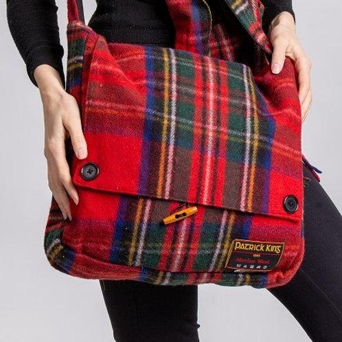 Royal Stewart Tartan Merino Wool Keri Messenger Bag