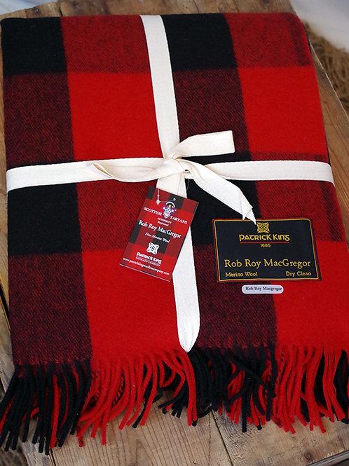 Buffalo Check Tartan Deluxe Merino Wool Blanket