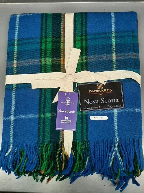 Nova Scotia Tartan Deluxe Merino Wool Blanket