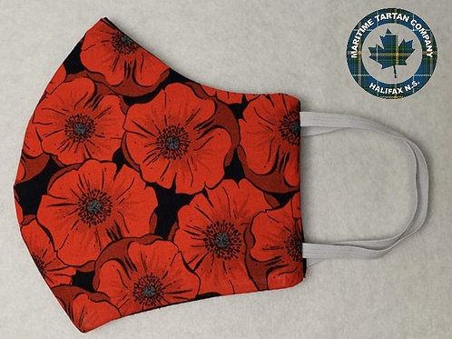 The Poppy Print Face Mask - ALLOW UP TO 10 BUSINESS DAYS FOR SHIPPING