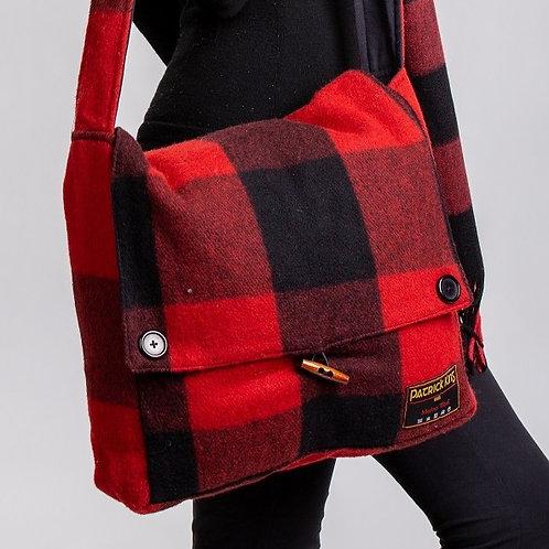Buffalo Check Tartan Merino Wool Keri Messenger Bag