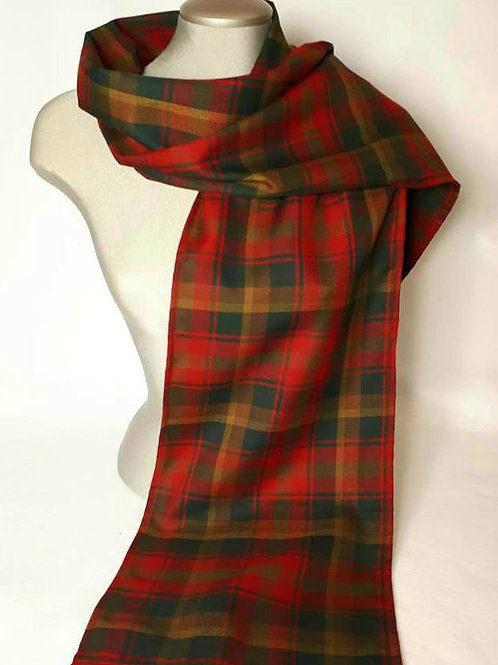 Canadian Maple Tartan 6 foot light scarf