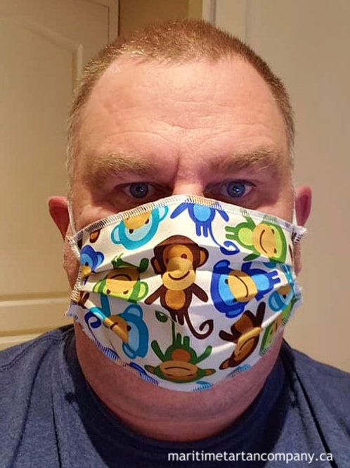 Monkey Print Face Mask - PLEASE ALLOW UP TO 10 BUSINESS DAYS FOR SHIPPING