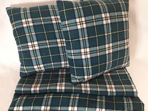 Cape Breton Tartan Throw Pillow and Blanket Set