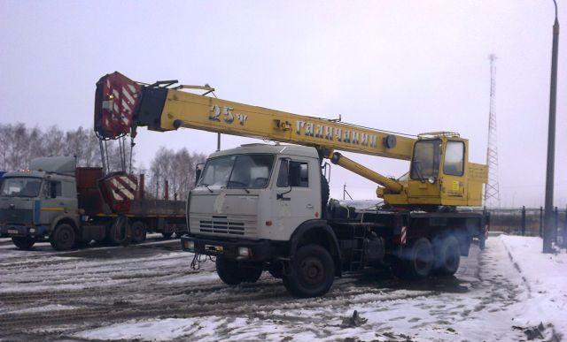 Кран (Камаз) 25 тонн-4000 руб./ч.
