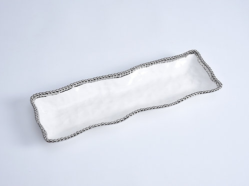 White Rectangular Serving Piece