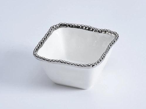 White Square Snack Bowl