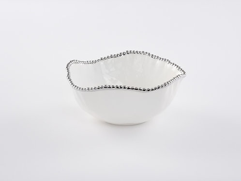 White Large Salad Bowl