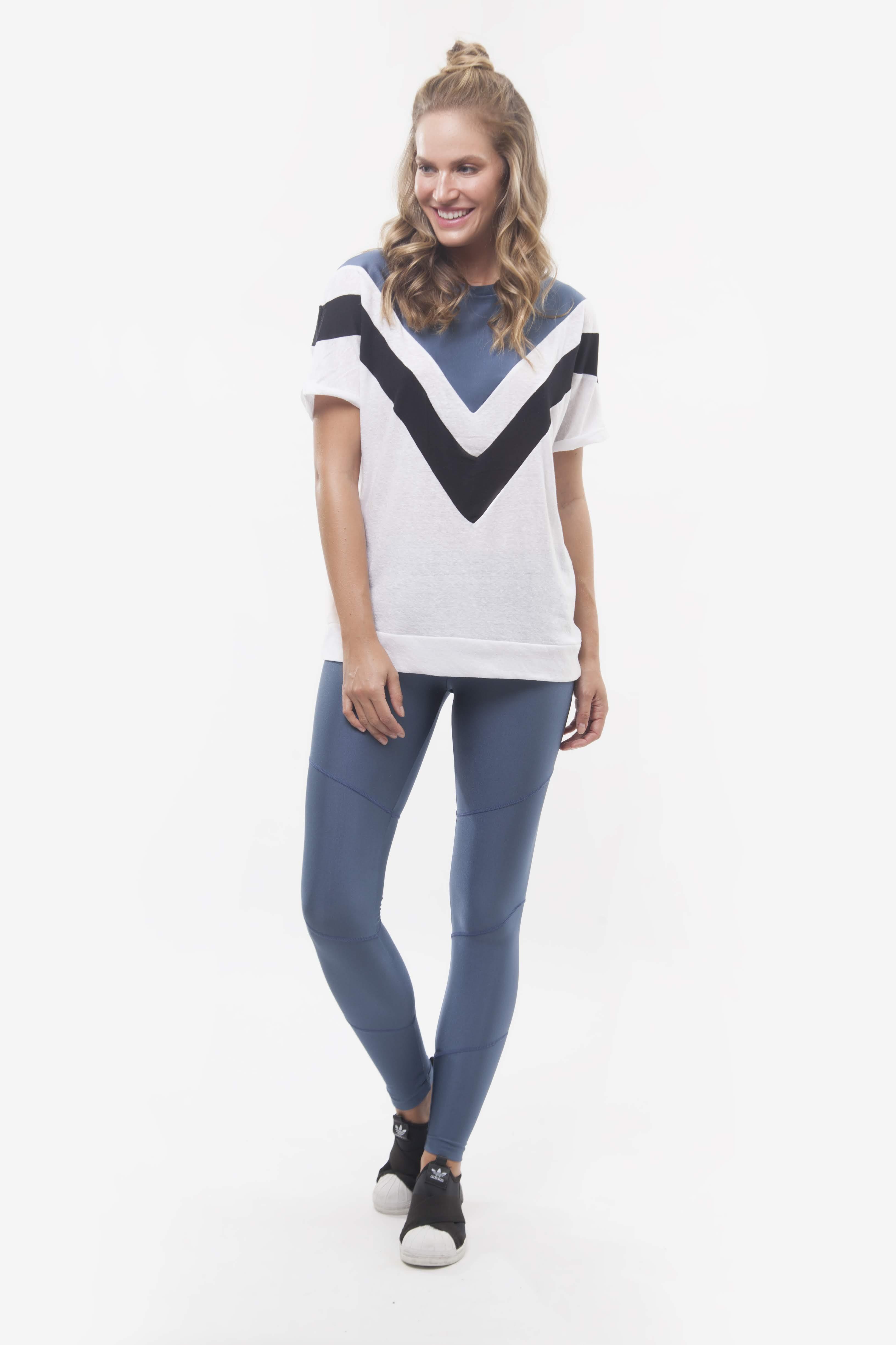 Tshirt Trancoso e Legging Pesponto