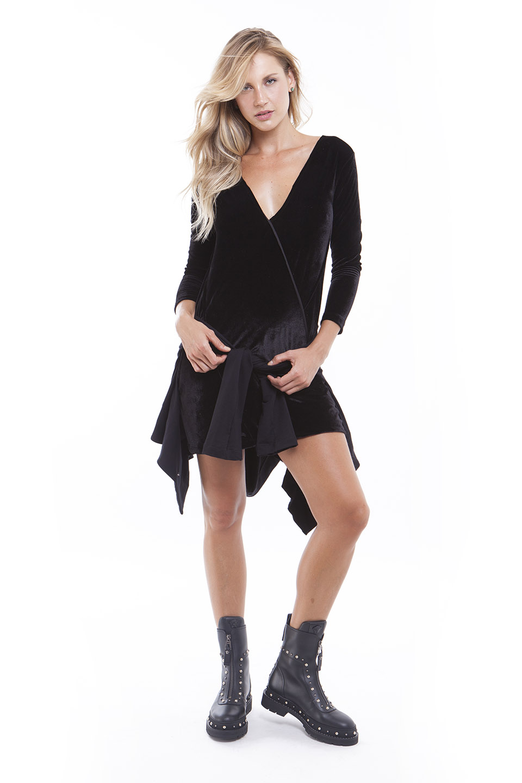 Vestido Velvet Vallet Jaqueta Bomber