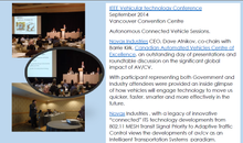 Automated and Connected Vehicles Session IEEE VTC Vancouver Canada 2014 RECAP