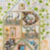 The House, detail, Meg Harder, gouache,