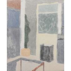 yellow curtain, Ella Gonzales,  20x25inc