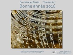 Happy New Year with Stream Art