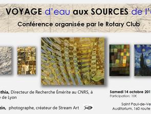 """Conférence """"Voyage aux sources"""" à Saint Paul de Vence"""