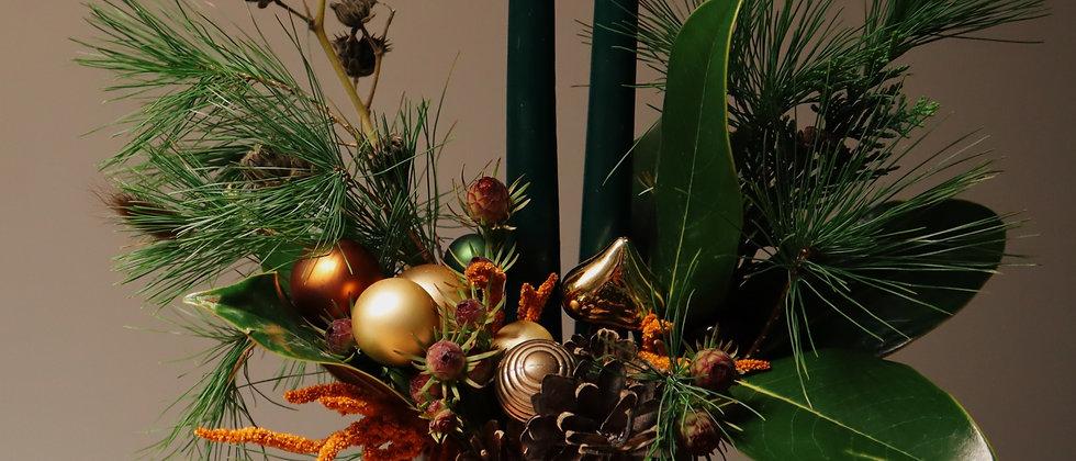"""Новогодняя композиция """" Лесной остров"""""""