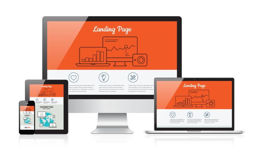 Landing pages for a website