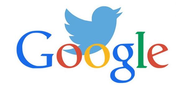 Google and Twitter logo