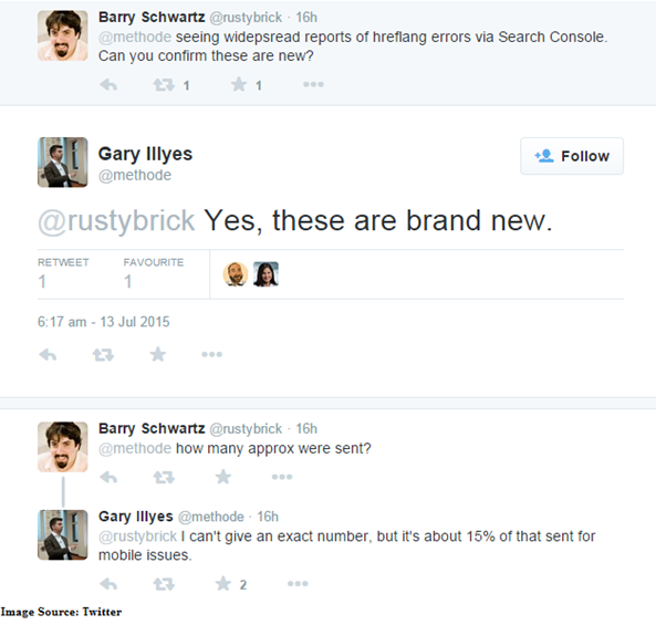 Tweeted response from gary Illyes