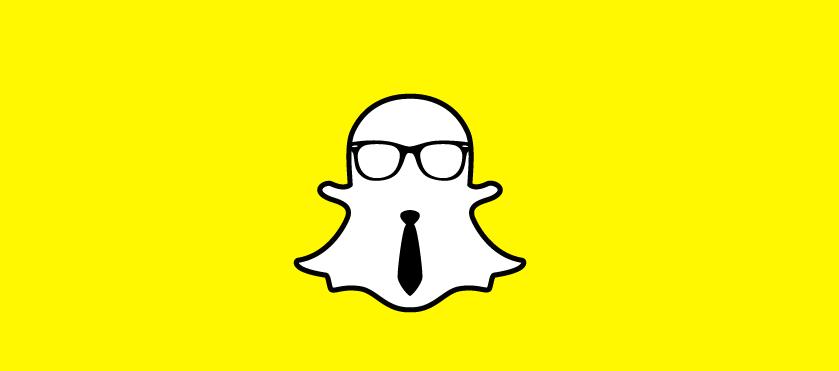 Snapchat logo as businessperson