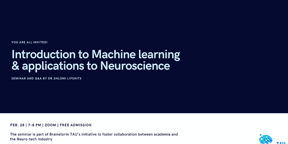 Introduction to Machine learning and applications to Neuroscience