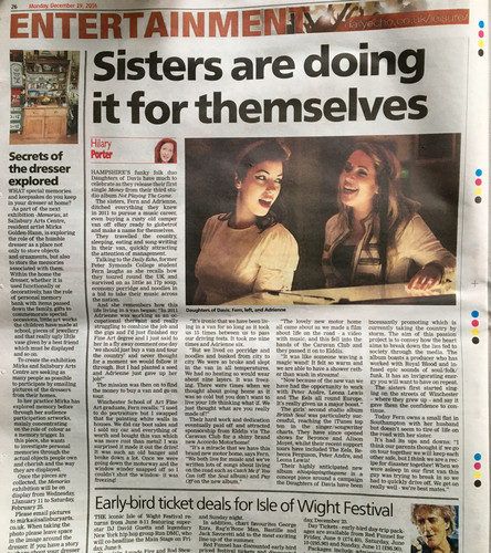Newspaper Article Daily Echo