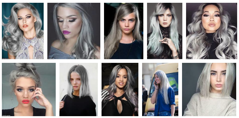Grey hair on women looking awesome!