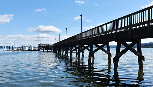 Pier in Silverdale Waterfront Park, Wash