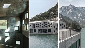 Modern tea house merged into 'Chinese painting' scenery...