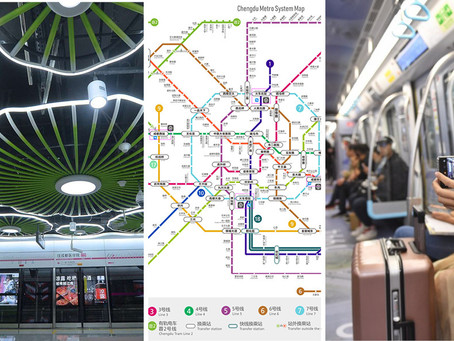 12 subway lines in 10 years... the city of the giant pandas