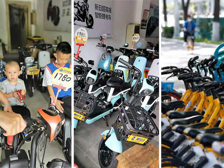 300 million e-bikes in China, 690 million shared bike rides in Beijing...