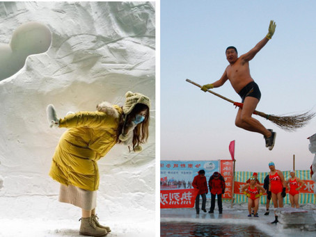 China's great city of ice and snow...