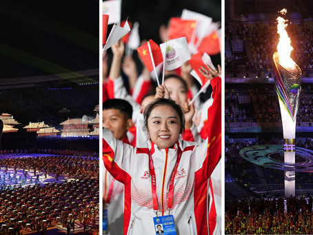 14th National Games of China kicked off last night...