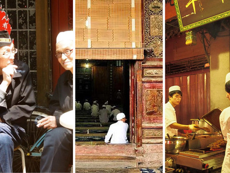 A thriving Muslim quarter in central China's Xi'an...