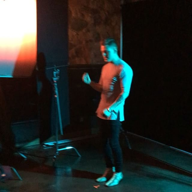 Starting off with personal shots of _conor as the rest of the cast arrives #popstars