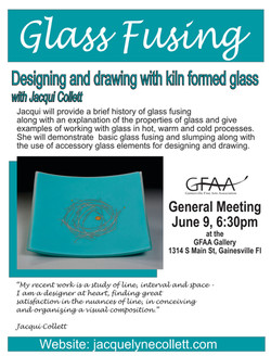 June Meeting Jacque Collett Glass Fusion