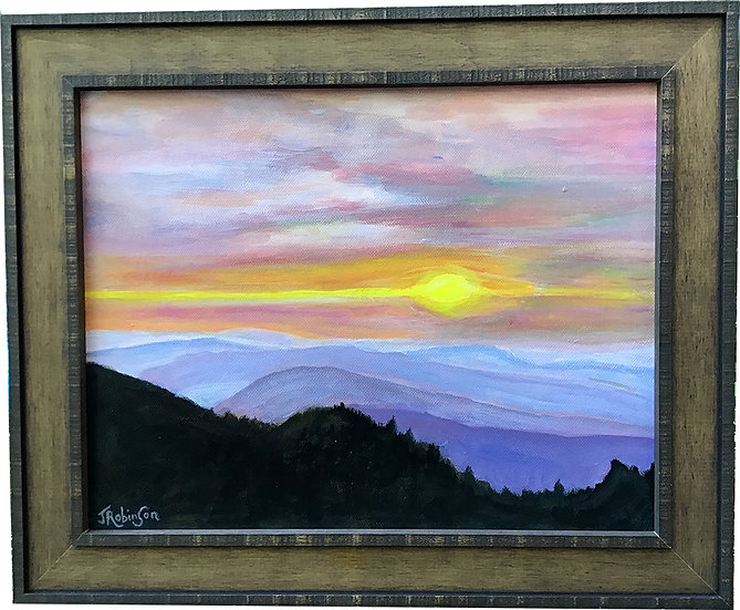 Cliff Tops Sunset in Great Smokies - Judy Robinson