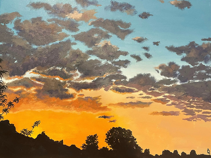 Peach Tree Sunset - Ali Graves