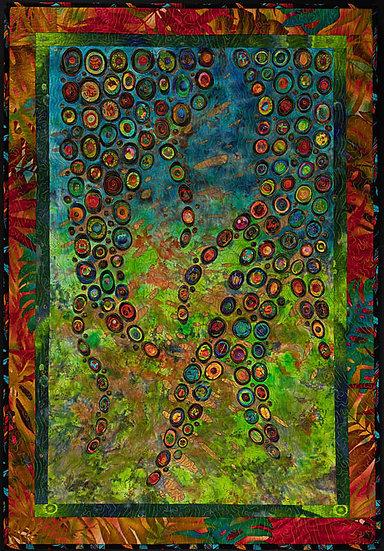 Garden Vines, Hundertwasser Meets Klimt - Candace McCaffery