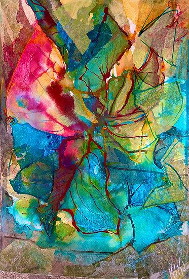 Breakfast in the  Butterfly Garden - Sue Kelman