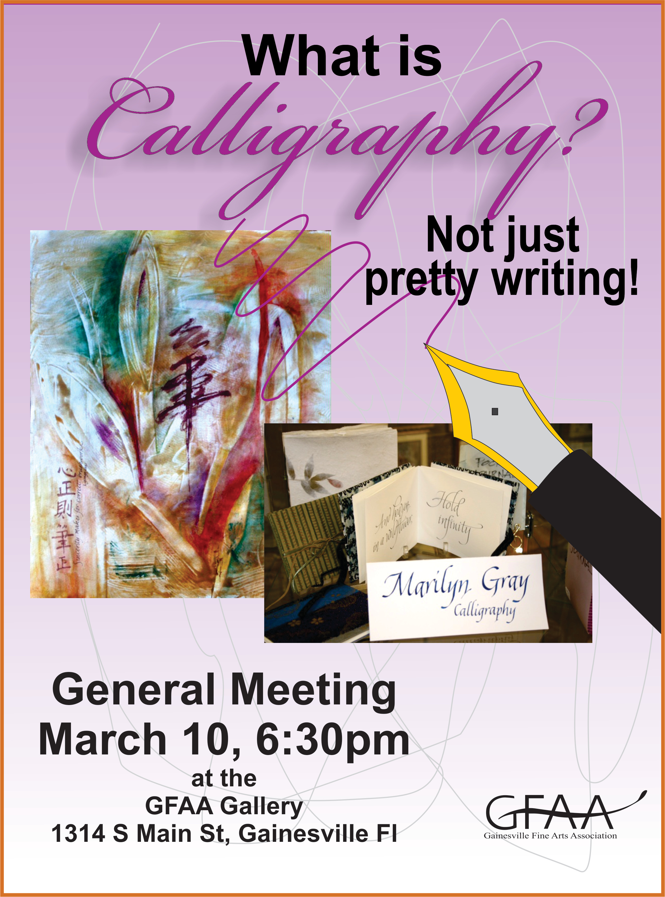 Mar.  Meeting 2016 Calligraphy