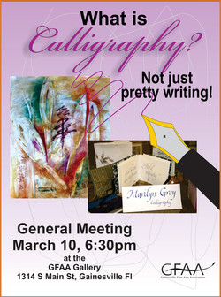 Mar.  Meeting 2016 Calligraphy